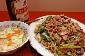 Fried Rice Noodles at Bat Dan street or Hang Buom street