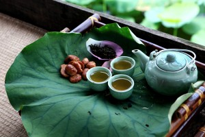 Enjoy Tea in the Middle of West Lake on Summer Days