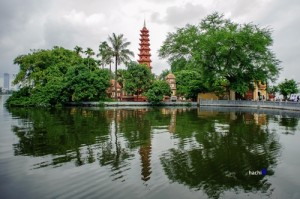 Ancient Beauties of Pagodas Nearby West Lake