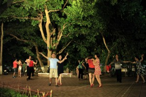 Dance Club In Hoan Kiem Lake