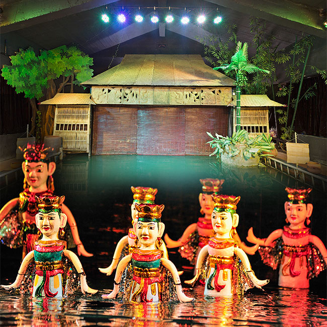 a Traditional Performance at Thang Long Water Puppet Theatre