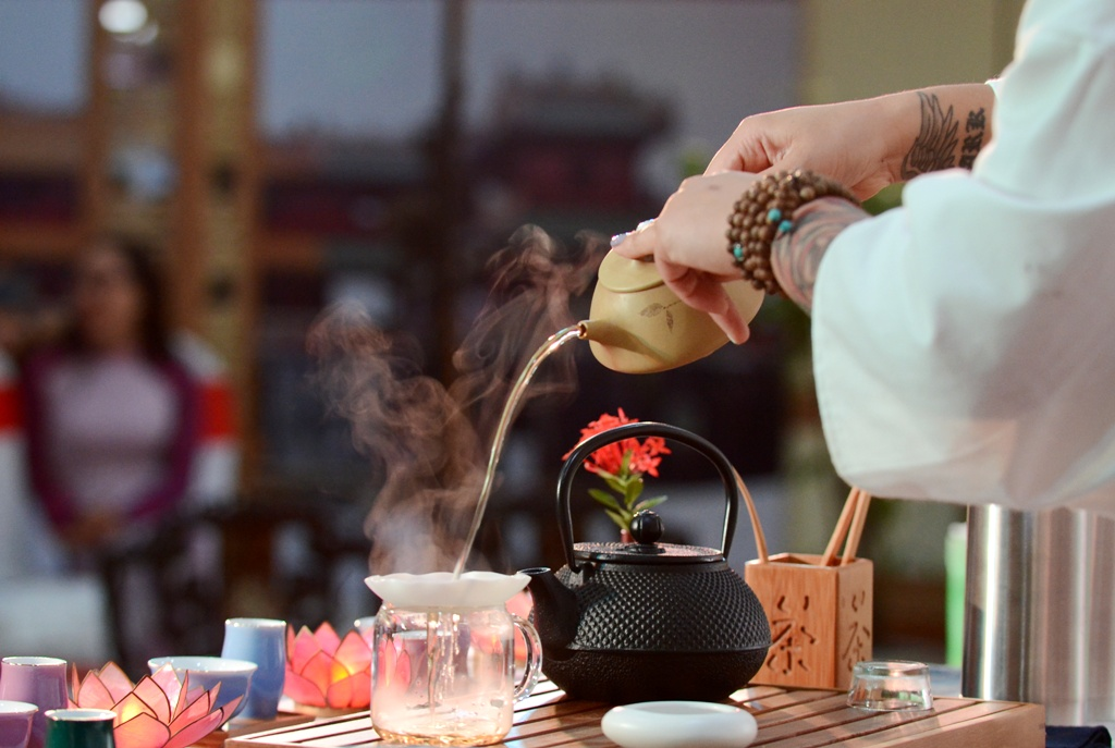 Lotus tea is used for special occasion or celebration to express the host' hospitality.