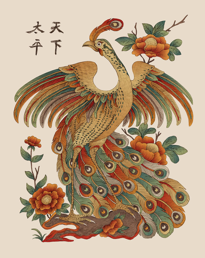 Dancing peacock-symbolize the noble and help to prevent devils