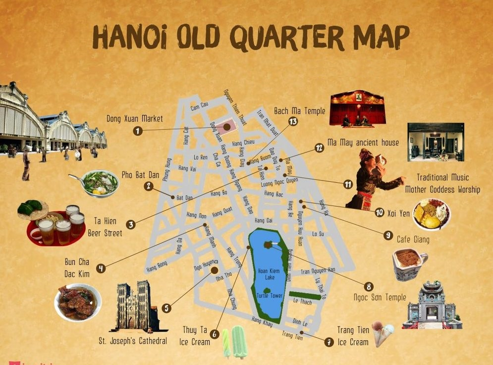 Hanoi Old Quarter Map