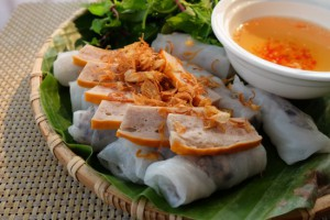 Banh Cuon-steamed rice roll