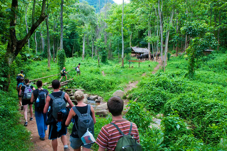 The route of camping and overnight in Muong Village is the most adventurous