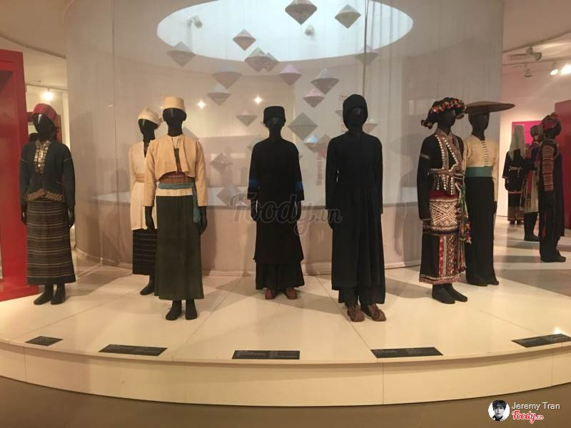 The Vietnamese traditional clothers  in Vietnam Women's museum